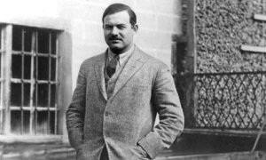 A young Hemingway in Paris.